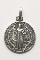 Benediktus-Medaille in 925er-Silber 16 mm