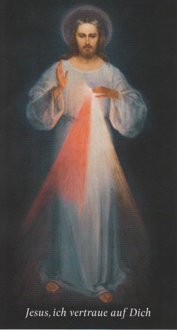 Bild: Barmherziger Jesus, 16 x 34 cm
